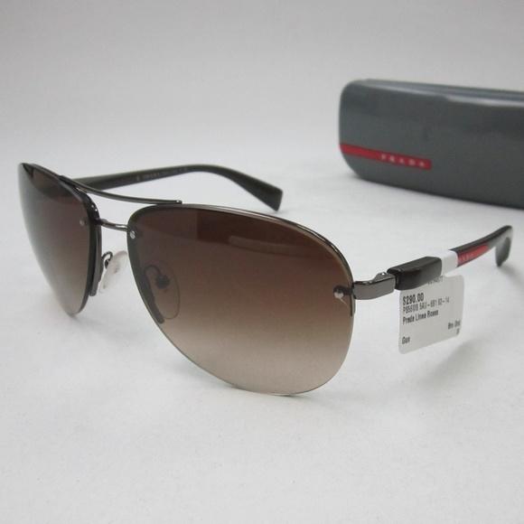 37f3270989643 Prada SPS 56M Aviator Sunglasses Italy OLI754. M 5b44ff7d12cd4afbc34816d2